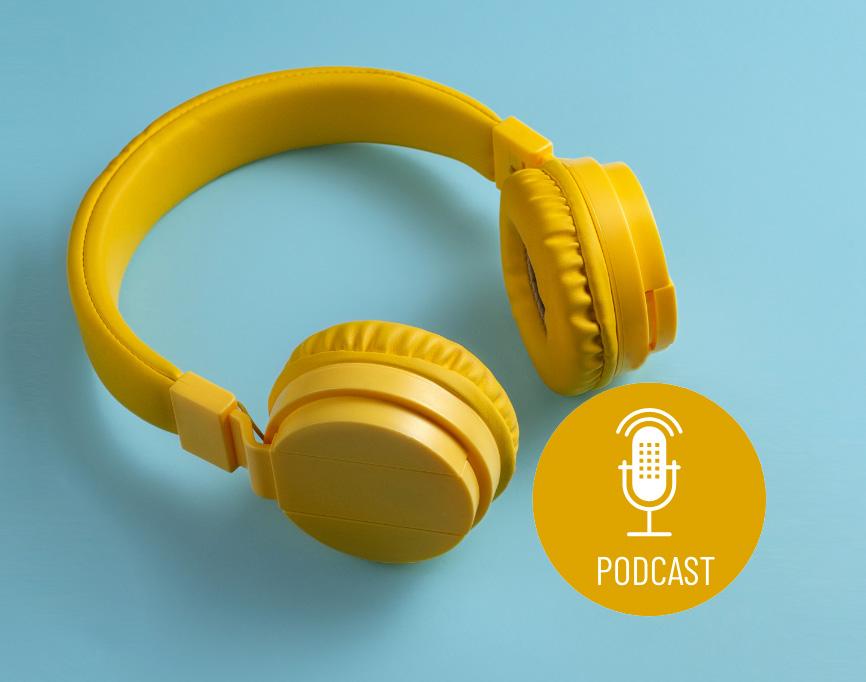Kopfhörer mit Podcast